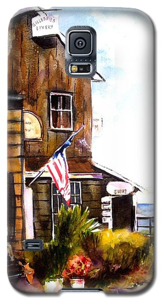 Galaxy S5 Case featuring the painting Langley Washington by Marti Green