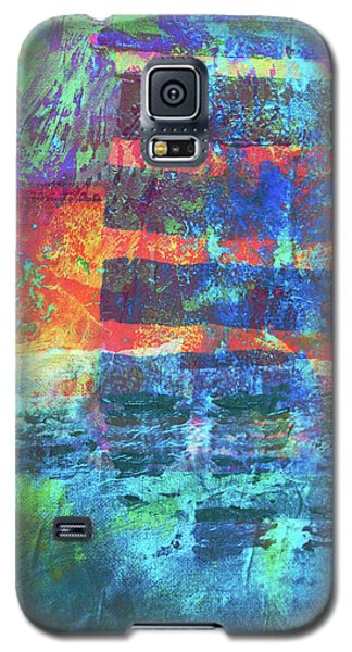 Galaxy S5 Case featuring the painting Language by Nancy Merkle