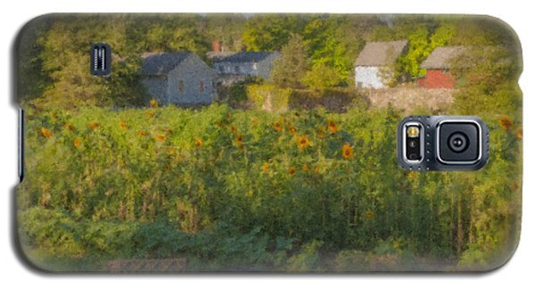 Langwater Farm Sunflowers And Barns Galaxy S5 Case
