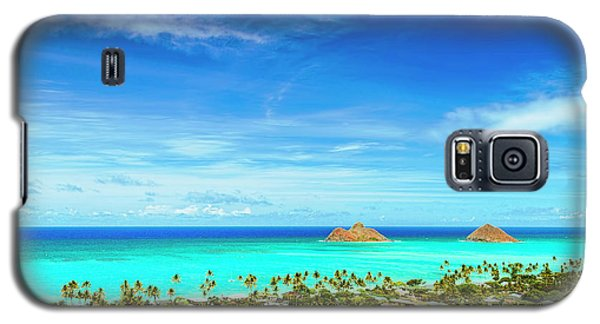 Galaxy S5 Case featuring the photograph Lanikai Beach From The Pillbox Trail by Aloha Art