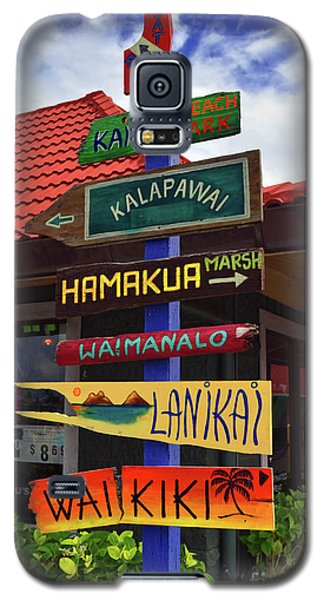 Lanikai Kailua Waikiki Beach Signs Galaxy S5 Case