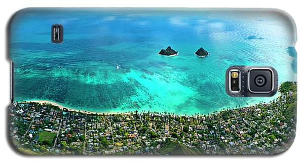 Helicopter Galaxy S5 Case - Lanikai Over View by Sean Davey