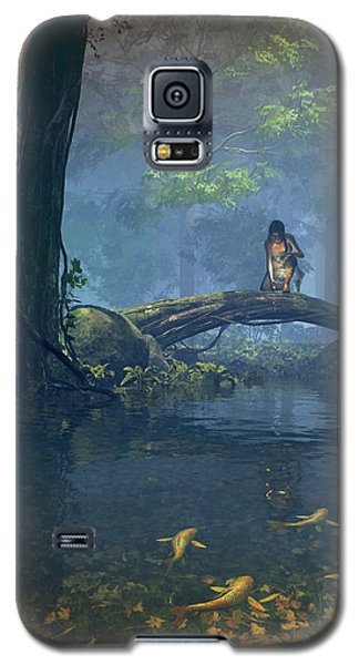 Elf Galaxy S5 Case - Lantern Bearer by Cynthia Decker