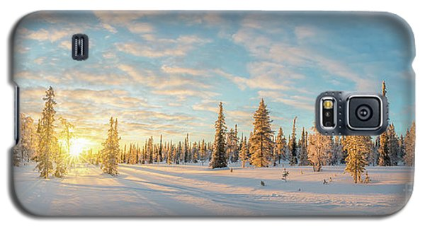 Galaxy S5 Case featuring the photograph Lapland Panorama by Delphimages Photo Creations