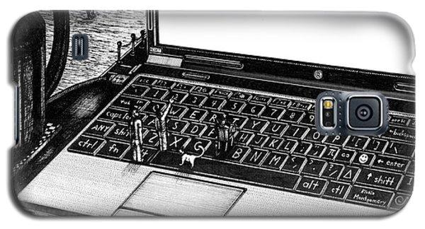 Laptop Galaxy S5 Case by Richie Montgomery