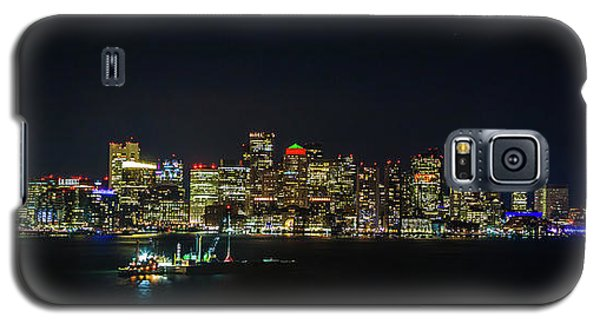 Large Panoramic Of Downtown Boston At Night Galaxy S5 Case