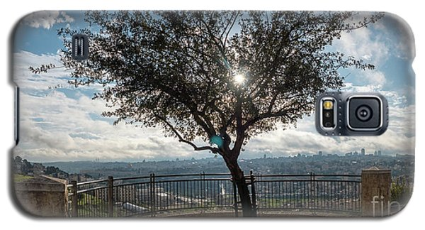Large Tree Overlooking The City Of Jerusalem Galaxy S5 Case