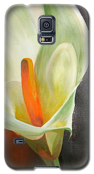 Large White Calla Galaxy S5 Case
