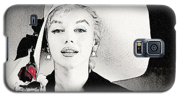 Large White Hat -marilyn Monroe  - Sketch Galaxy S5 Case