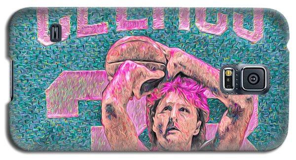 Larry Bird Boston Celtics Digital Painting Pink Galaxy S5 Case