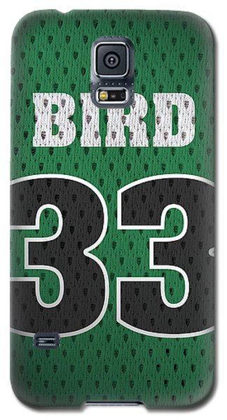 Larry Bird Boston Celtics Retro Vintage Jersey Closeup Graphic Design Galaxy S5 Case