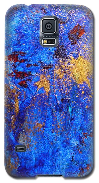 Galaxy S5 Case featuring the painting Las Flores by Mary Sullivan