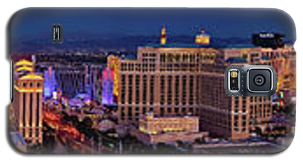 Galaxy S5 Case featuring the photograph Las Vegas Panoramic Aerial View by Susan Candelario