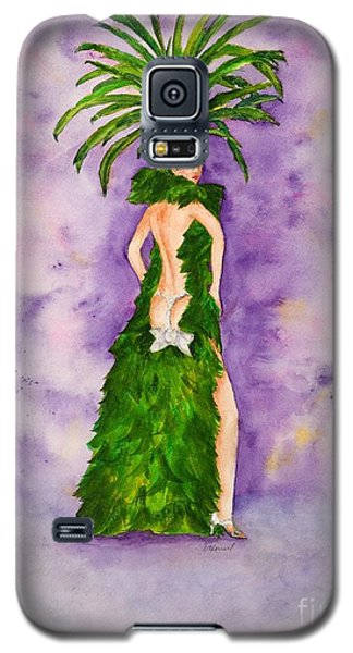 Galaxy S5 Case featuring the painting Las Vegas Show Girl by Vicki  Housel