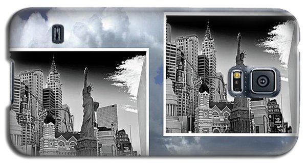 Galaxy S5 Case featuring the painting Las Vegas,new York by Athala Carole Bruckner