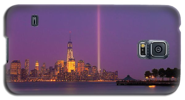 Laser Twin Towers In New York City Galaxy S5 Case