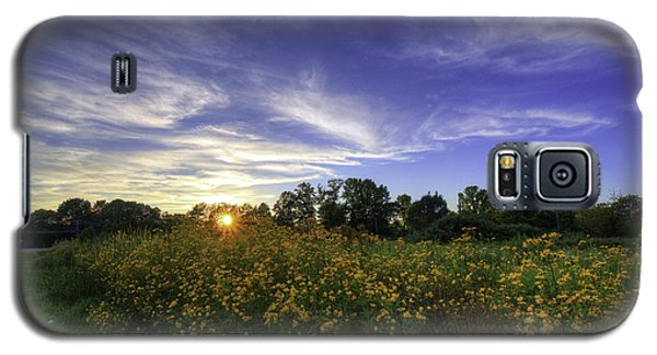 Last Rays Over The Flowers Galaxy S5 Case