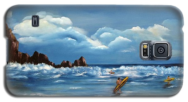 Galaxy S5 Case featuring the painting Last Ride by Carol Sweetwood