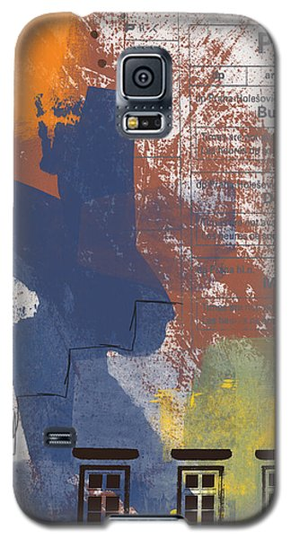 Train Galaxy S5 Case - Last Train To Prague- Art By Linda Woods by Linda Woods