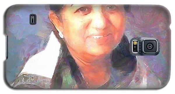 Lata Mangeshkar  Galaxy S5 Case by Wayne Pascall