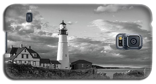 Galaxy S5 Case featuring the photograph Late Afternoon Clouds, Portland Head Light  -98461 by John Bald