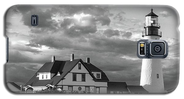 Galaxy S5 Case featuring the photograph Late Afternoon Clouds, Portland Head Light  -98461-sq by John Bald