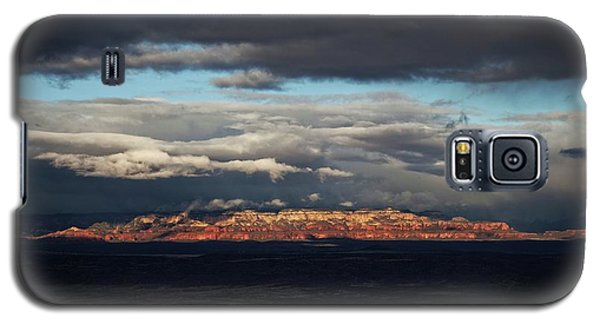 Late Light On Red Rocks With Storm Clouds Galaxy S5 Case
