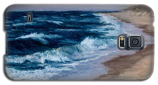 Galaxy S5 Case featuring the painting Late Spring At Cold Storage Beach by Jack Skinner