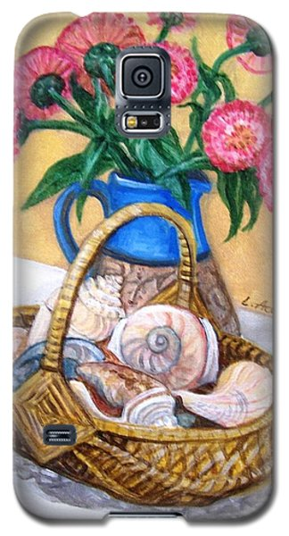 Galaxy S5 Case featuring the painting Late Summer by Laura Aceto