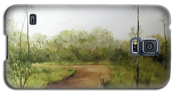 Galaxy S5 Case featuring the painting Late Summer Walk by Roseann Gilmore