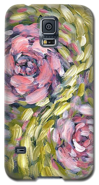 Galaxy S5 Case featuring the digital art Late Summer Whirl by Holly Carmichael