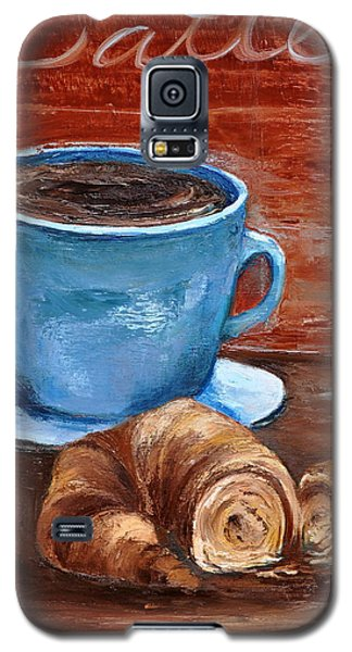 Galaxy S5 Case featuring the painting Latte by Lindsay Frost