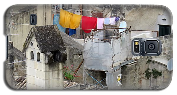Laundry Day In Matera.italy Galaxy S5 Case by Jennie Breeze