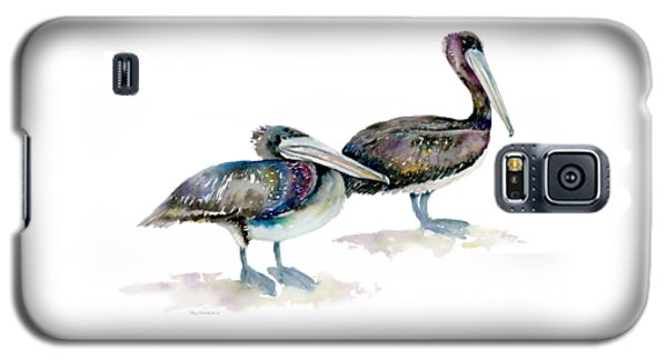 Laurel And Hardy, Brown Pelicans Galaxy S5 Case by Amy Kirkpatrick