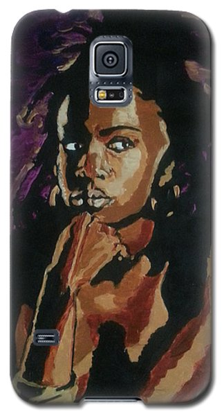 Galaxy S5 Case featuring the painting Lauryn Hill by Rachel Natalie Rawlins