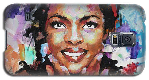Galaxy S5 Case featuring the painting Lauryn Hill by Richard Day