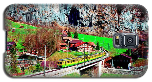 Lauterbrunnen Electric Train Galaxy S5 Case