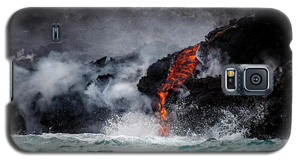 Lava Dripping Into The Ocean Galaxy S5 Case
