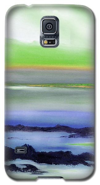 Lava Rock Abstract Sunset In Blue And Green Galaxy S5 Case