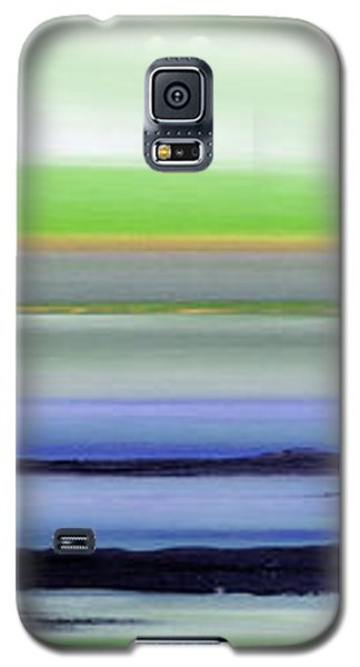 Lava Rock Panoramic Sunset In Green And Blue Galaxy S5 Case