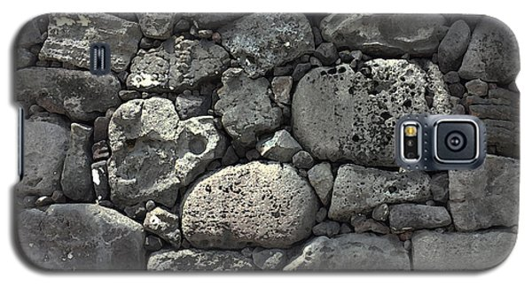 Lava Rock Wall 1 Dark Galaxy S5 Case