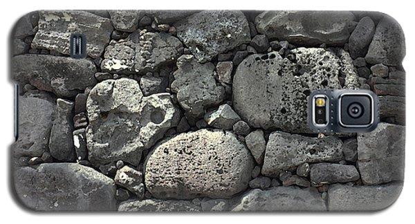 Lava Rock Wall 1 Dark Galaxy S5 Case