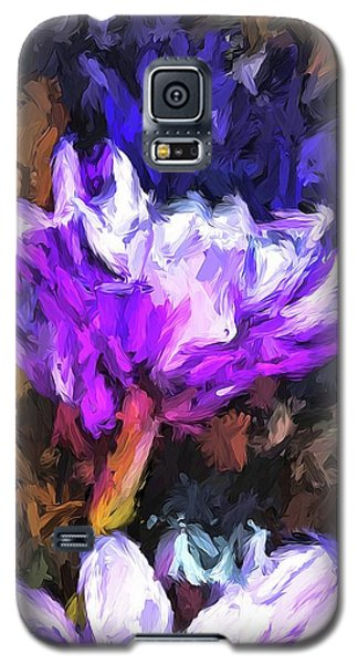 Lavender And White Flower With Reflection Galaxy S5 Case
