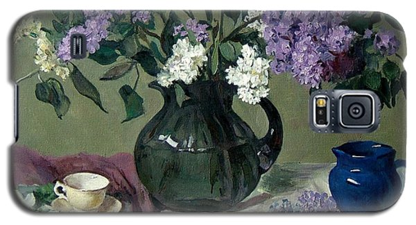 Lavender And White Lilacs With Blue Creamer And Teacup Galaxy S5 Case