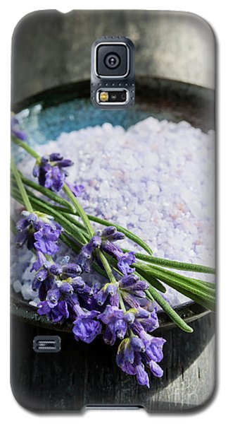 Galaxy S5 Case featuring the photograph Lavender Bath Salts In Dish by Elena Elisseeva