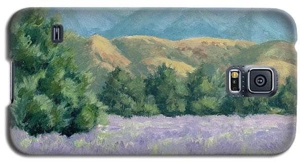 Galaxy S5 Case featuring the painting Lavender, Blue And Gold by Sandy Fisher
