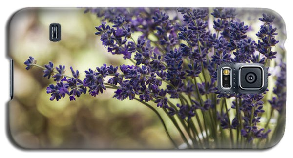 Lavender Bokeh Galaxy S5 Case by Rebecca Cozart