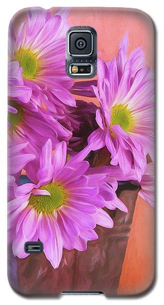 Daisy Galaxy S5 Case - Lavender Daisies by Tom Mc Nemar