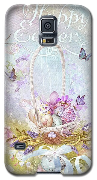 Galaxy S5 Case featuring the mixed media Lavender Easter by Mo T