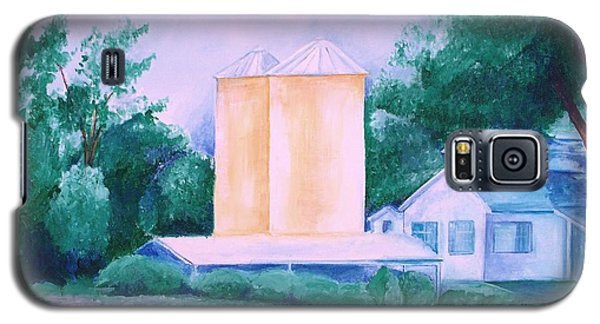 Galaxy S5 Case featuring the painting Lavender Farm Albuquerque by Eric  Schiabor